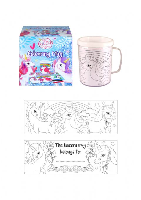Unicorn Colouring Mug - Colour Your Own Arts & Crafts